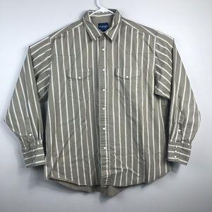 VTG Wrangler Western Shirts Long Sleeve Pearl